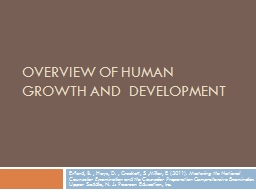 Overview of Human Growth and  Development