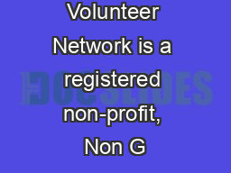Global Volunteer Network is a registered non-profit, Non G