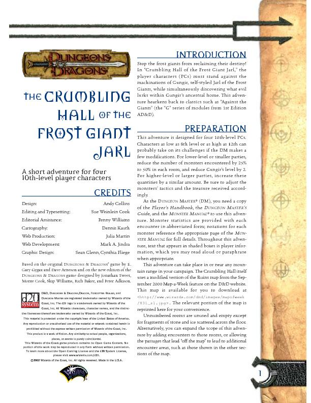 1crumblingHall of theFrost GiantJarlA short adventure for four  ...