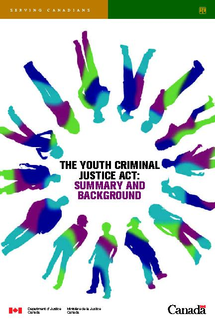 IYouth Criminal ustice Act is the law that governs Canada's youth