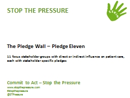 STOP THE PRESSURE PowerPoint PPT Presentation