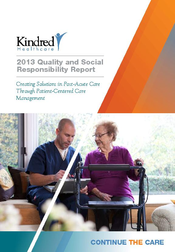 Creating Solutions in Post-Acute Care Through Patient-Centered Care  .