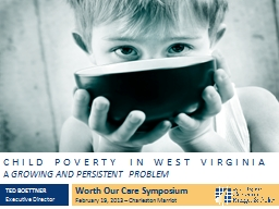 Child poverty IN west Virginia