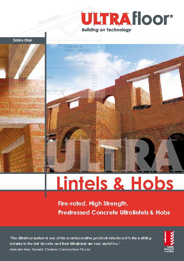 The Ultralintel sections are bonded to the top of the concrete slab so
