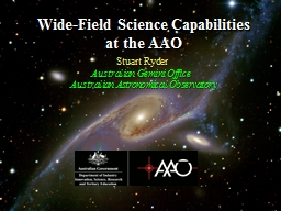 Wide-Field Science Capabilities at the AAO PowerPoint PPT Presentation