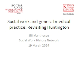Social work and general medical practice: Revisiting