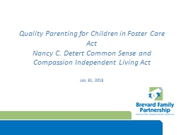 Quality Parenting for Children in Foster Care Act