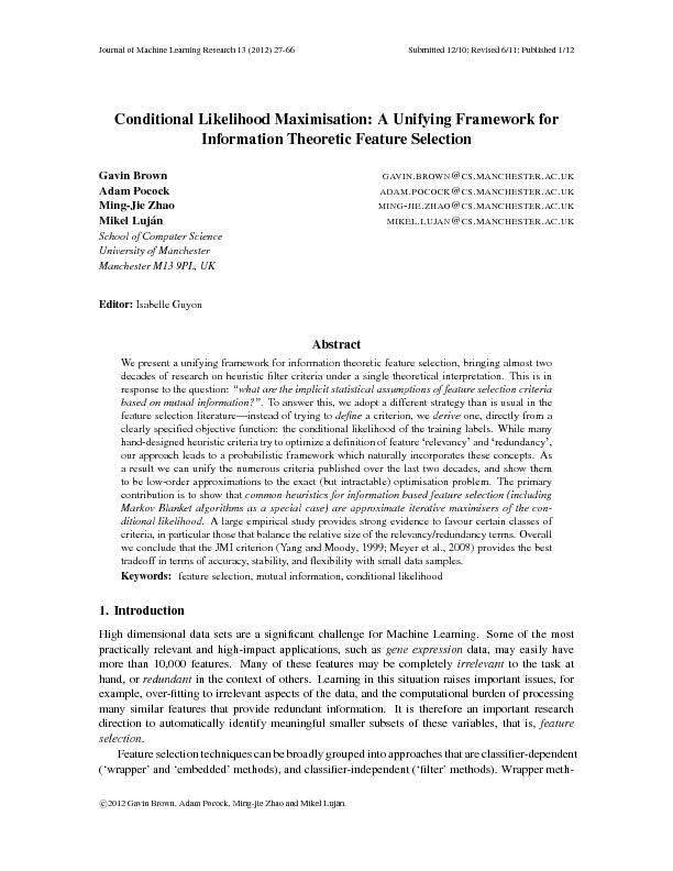 JournalofMachineLearningResearch13(2012)27-66Submitted12/10;Revised6/1
