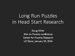 Long Run Puzzles PowerPoint PPT Presentation