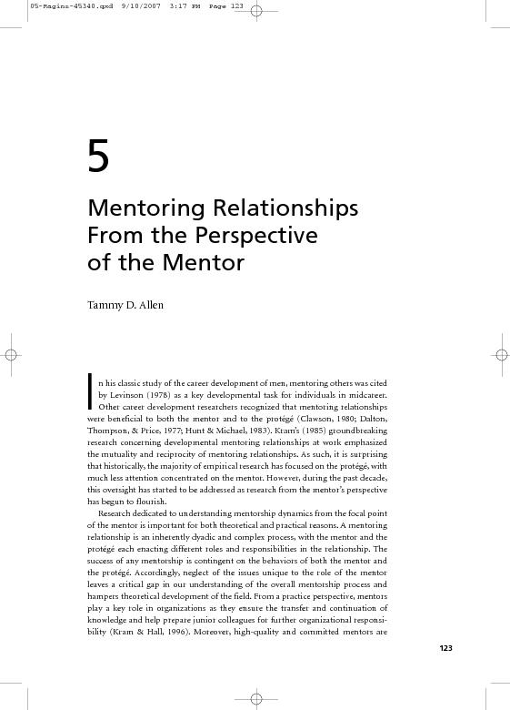crucial to the success offormal mentoring programs within organization