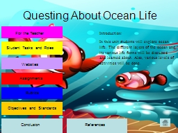 Questing About Ocean Life