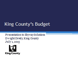 King County's Budget