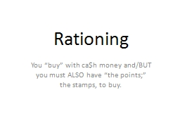 Rationing PowerPoint PPT Presentation