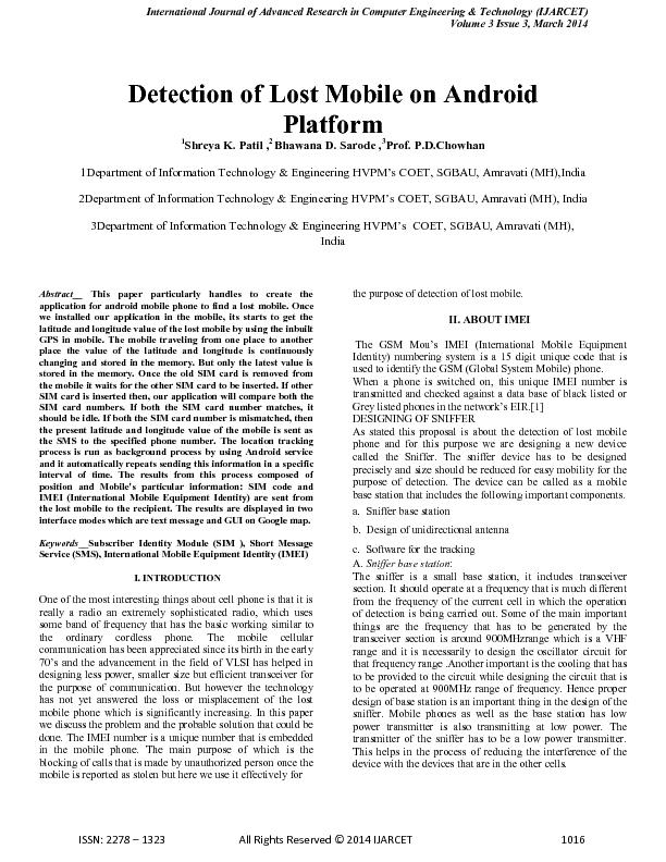 International Journal of Advanced Research in Computer Engineering & T