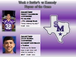 Special Teams PowerPoint PPT Presentation