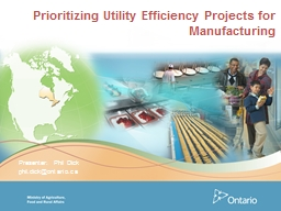 Prioritizing Utility Efficiency Projects for Manufacturing