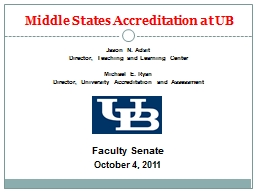 Middle States Accreditation at UB