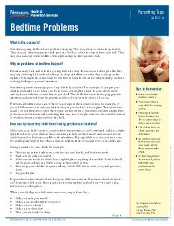What is the concern Sometimes young children have problems sleeping