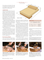Popular Woodworking November  IG J OURNAL B Y C H R I S T O P H E R S C H W A R Z LEAD PHOTO BY AL PARRISH ILLUSTRATION BY MARY JANE FAVORITE Bench Hook wning a backsaw without owning a bench hook i
