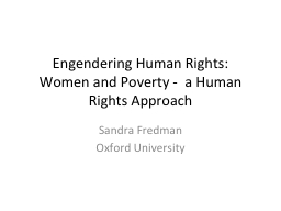 Engendering Human Rights: