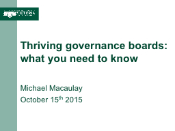 Thriving governance boards: what you need to know