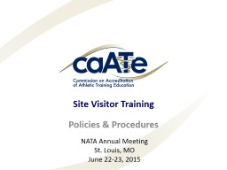 Site Visitor Training PowerPoint PPT Presentation