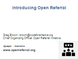 Introducing Open Referral