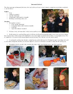 Homemade Birdseed The following recipe for homemade bird food called suet can be used in any season PowerPoint PPT Presentation
