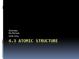 4.3 Atomic Structure