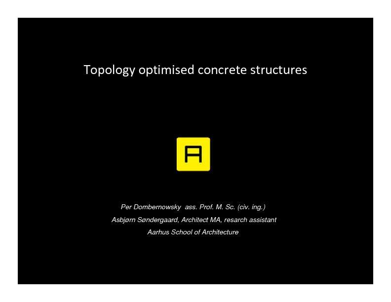 TopologystructuresPer Dombernowsky  ass. Prof. M. Sc. (civ. ing.)Asbj
