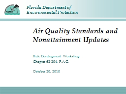 Air Quality Standards and Nonattainment Updates PowerPoint PPT Presentation