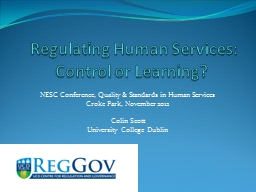 Regulating Human Services: Control or Learning?