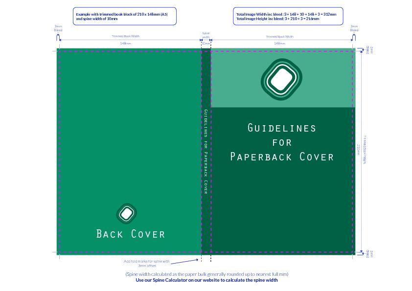 Now you have you fold marks setup, go ahead and design your cover.When