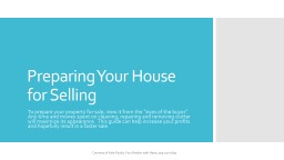 Preparing Your House for Selling