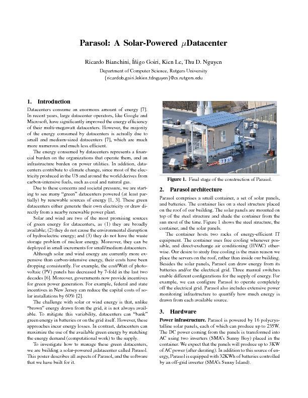 TodistributepowertotheITequipment,weuse3208VPDUs(Raritan'sDominionPX)w