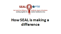 How SEAL is making a difference