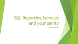 SQL Reporting Services and your sanity