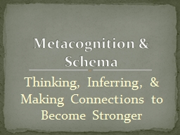 Thinking, Inferring, & Making Connections to Become Str