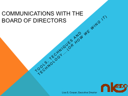 Communications with the Board of Directors