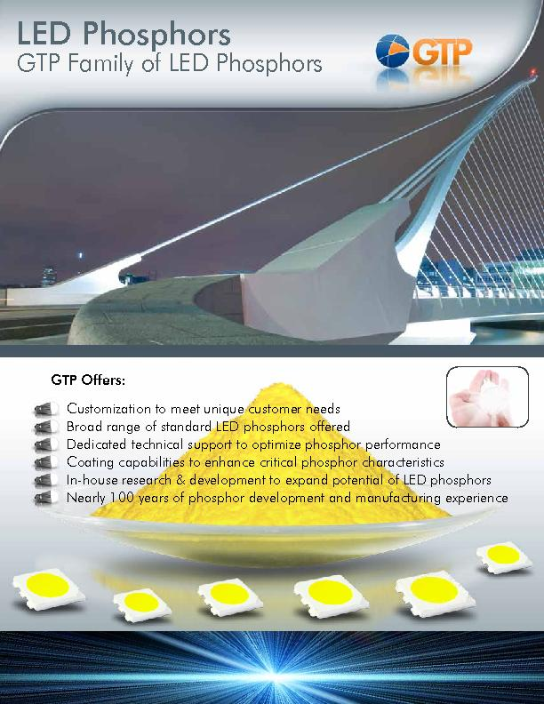 GTP Family of LED Phosphors PowerPoint PPT Presentation