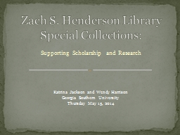 Supporting Scholarship and Research