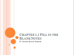 Chapter 1.1 Fill in the Blank Notes