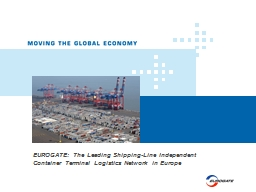 EUROGATE: The Leading Shipping-Line Independent