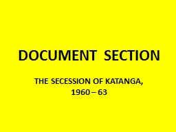 DOCUMENT SECTION