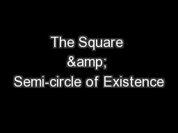 The Square & Semi-circle of Existence PowerPoint PPT Presentation