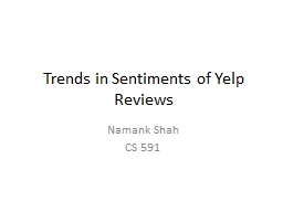 Trends in Sentiments of Yelp Reviews