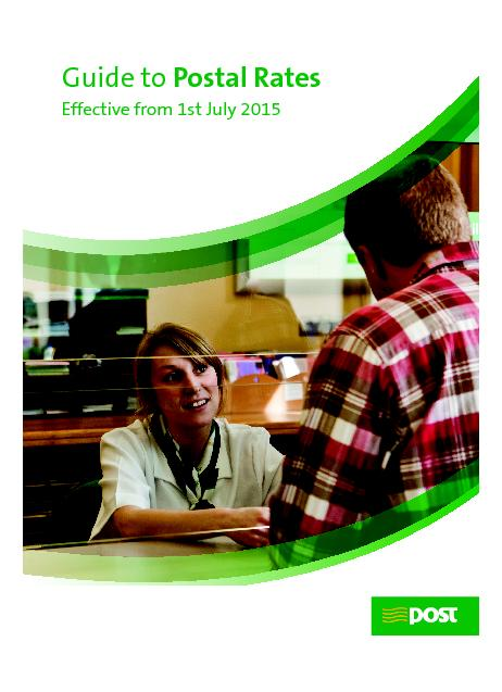 Guide to ostal Rates Effective from 1st July 2015