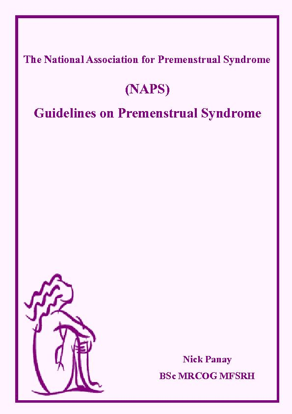 Guidelines on Premenstrual Syndrome