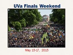 UVa  Finals Weekend