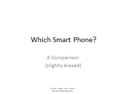 Which Smart Phone?